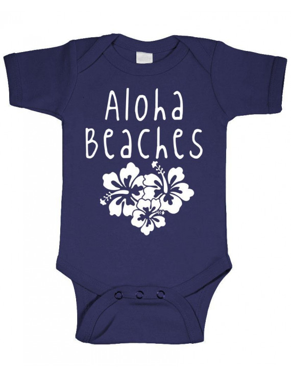 ALOHA BEACHES - hawaii party tropical  - Cotton Infant Bodysuit