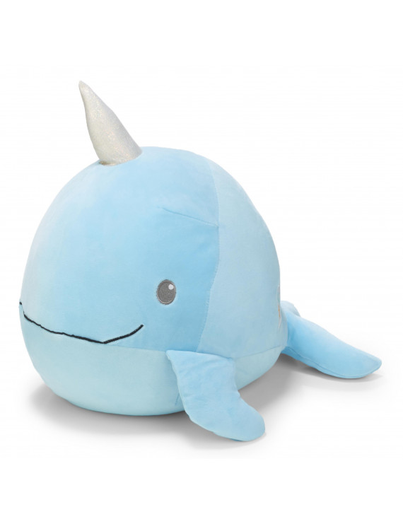 Cuddle Pal Round Large Huggables Narwhal Plush