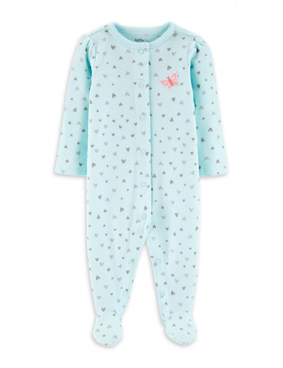 Little Planet Organic by Carter's Baby Girl Interlock Cotton Snap Up Sleep 'N Play Pajamas
