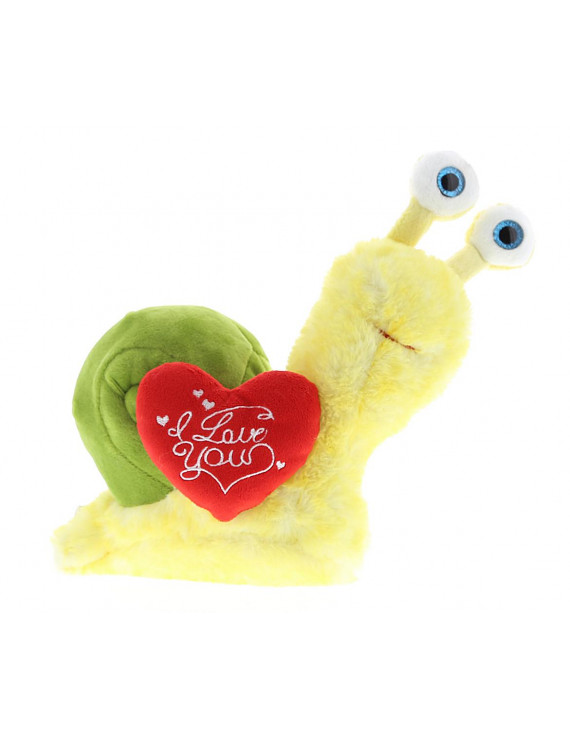 Dollibu Yellow Snail I Love You Valentines Stuffed Animal - Heart Message - 7 inch - Wedding, Anniversary, Date Night, Long Distance, Get Well Gift for Her, Him, Kids - Super Soft Plush