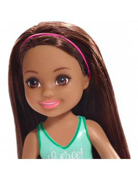 Barbie Club Chelsea Doll, 6-Inch Brunette With Fierce Tiger Graphic
