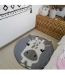 Kids Round Crawling Mat, Cute Animals Baby Adventure Carpet, 100% Cotton Children's Floor Play Game Mat, Best Play Mat for Kids Room Decorations & Teepee Tent