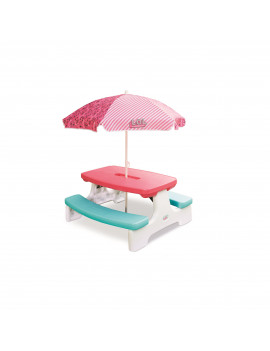 L.O.L. Surprise! Birthday Party Kids Picnic Table with Umbrella