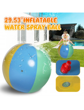 "29.53"" Inflatable Water Spray Beach Watermelon Ball Summer Outdoor Kids Sprinkler Toy"