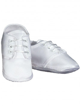 Little Things Mean A Lot 6MSBAS02 Baby Boys Satin Oxford Shoe - Size 2 - Fits 3-6 Month