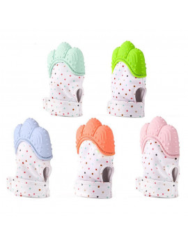1/2 x Silicone Baby Mitt Teething Mitten Teething Glove Candy Wrapper Sound Teether