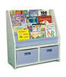 WonkaWoo Little Bookworm Sling Bookshelf, White/Blue