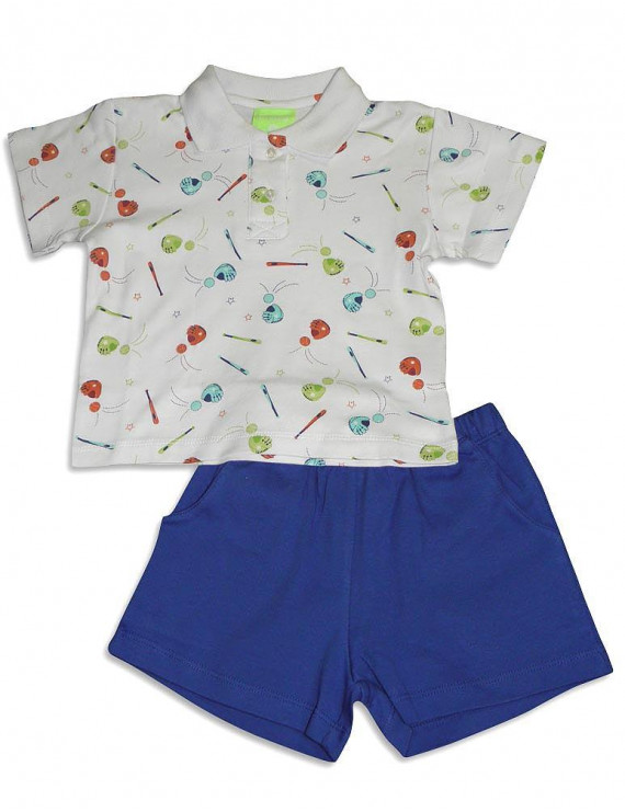 Snopea Baby Infant Newborn Boys Cotton Short Set - Choose from 16 different Sets, 29675 BASEBALL ROYAL / 6Months