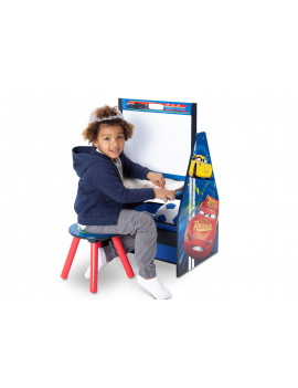 Disney Pixar Cars Activity Center - Easel Desk with Stool & Toy Organizer by Delta Children
