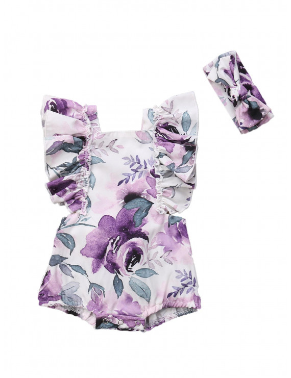 Toddler Baby Girls Romper Infant Baby Flower Costume New Jumpsuit Summer Hot Sale Girls Clothes Outfit Set
