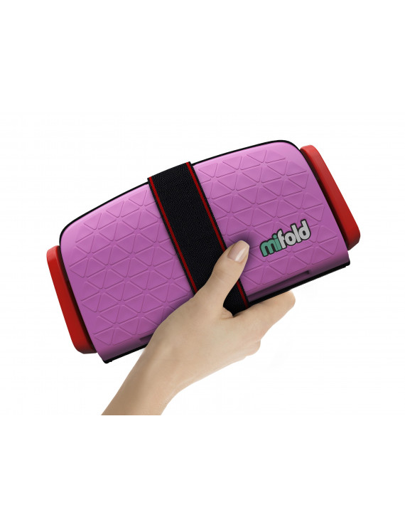mifold Grab-and-Go Booster Car Seat, Perfect Pink