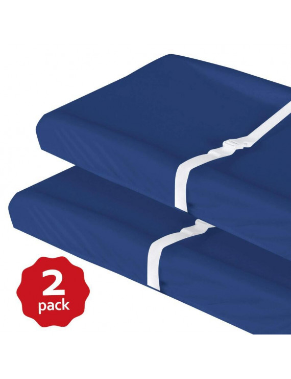 Changing Pad Cover for Baby Boy- 2 Pack Navy, Ultra Soft 100% Jersey Knit Cotton, Fitted, Easy Care