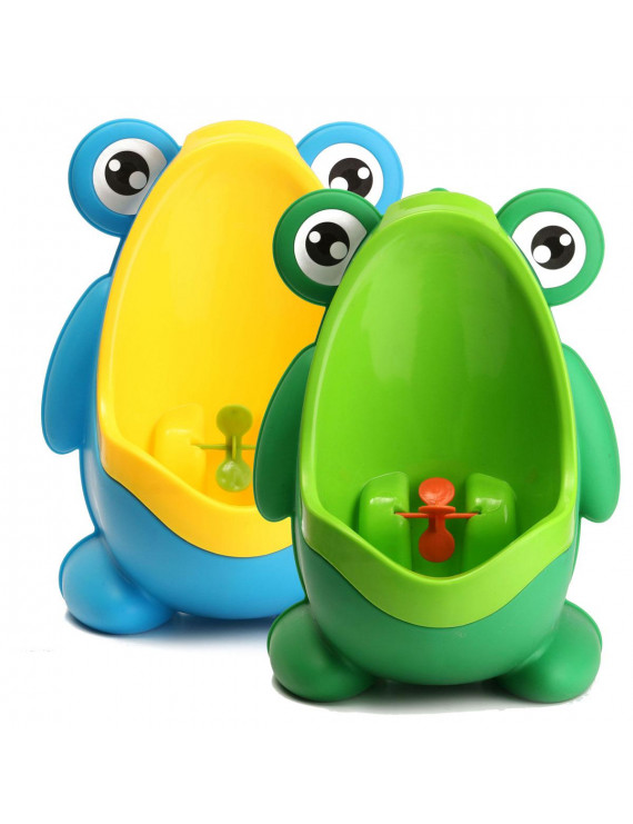 Children Frog Potty Toilet Training Bathroom Urinal For Kids Boys Pee Trainer with Aiming Target