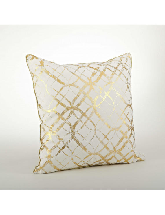 Saro Lifestyle Metallic Foil Print Pillow - 20inch