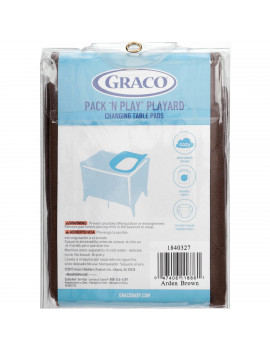 Graco Pack N Play Changing Table Pad Covers, 2pk - Brown