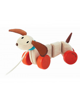 PlanToys Happy Puppy Pull-Along Toy