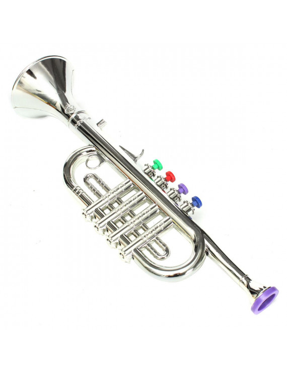 Plastic Mini Horn Trumpet Musical Music Instrument Toddler Kids Children Toys Birthday Christmas Gift