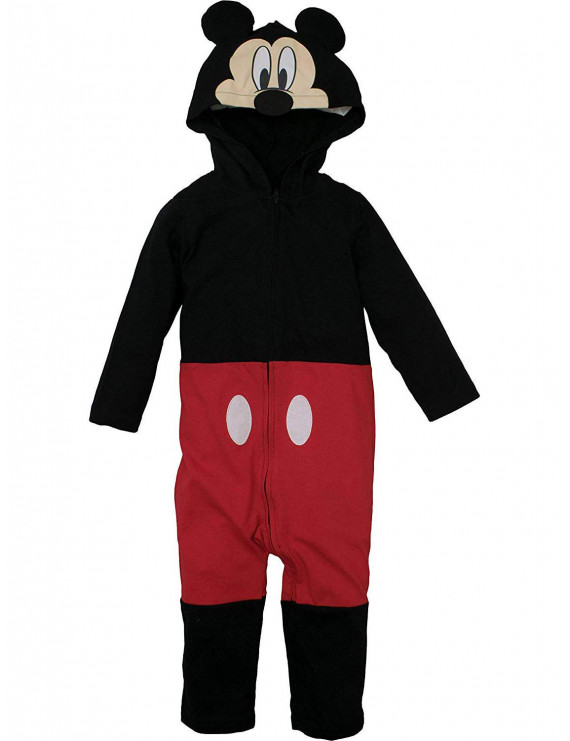 Mickey Mouse Hooded Ear One Piece Costume Romper (Baby Boys)