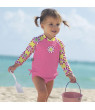 Sun Smarties Pink Baby Swim Diaper - Approved for Public Pools - UPF 50+ Protected-Eco Friendly