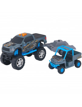 Adventure Force Lights & Sound Off-Road Trailer, Blue and Black