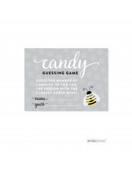 Candy Guessing Game  Mama to Bee Bumblebee Gender Neutral Baby Shower Games , 30-Pack