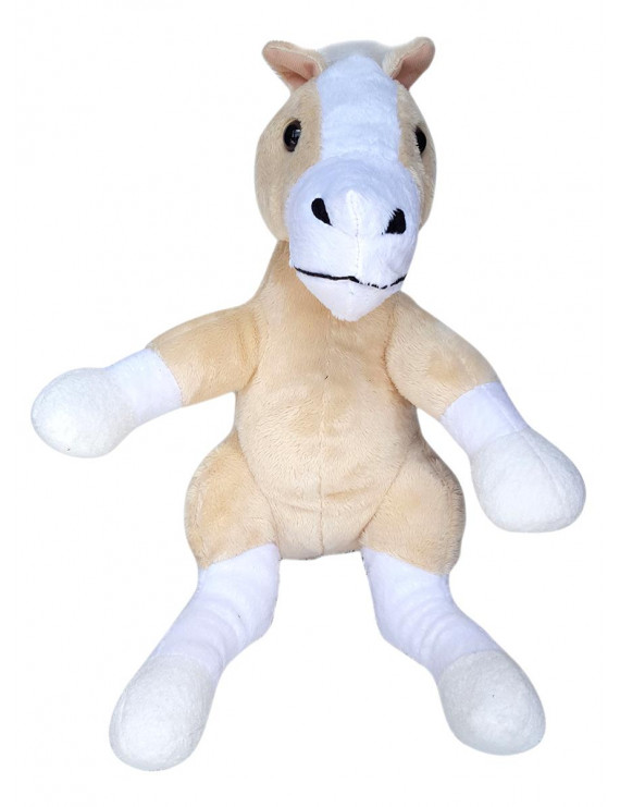 Record Your Own Plush 16 inch Tan Horse - Ready To Love in a Few Easy Steps