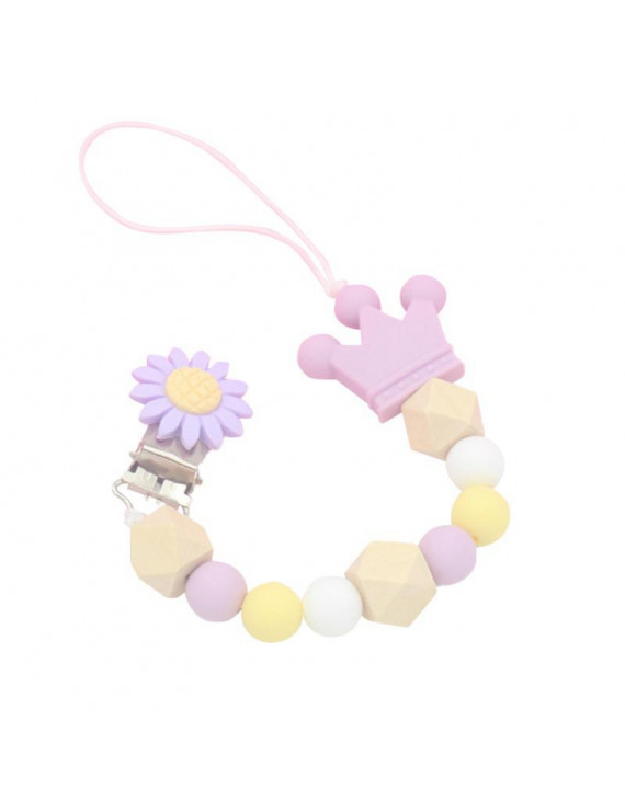 SUPERHOMUSE Baby Drop Proof Nipple Chain Silicone Pacifier Chain Clip Holder Nipple Leash Strap Pacifier Soother
