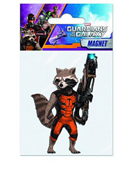 "Marvel Guardians Of The Galaxy Soft Touch PVC Magnet: ""Rocket Raccoon"""