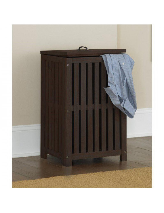 NE Kids Highlands Clothes Hamper in Espresso