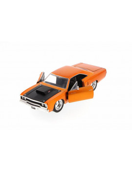 Box of 4 Diecast Model Cars - Fast & Furious Dom's Plymouth Road Runner Hard Top, Copper, 1/24 Scale