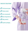 Amerteer Manual Breast Pump. Portable Milk Pump CE and FDA Approved Breastfeeding Breast Pump Big Capacity Soft Silicone Powerful Suction, Press Handle, with Nipple and Cover