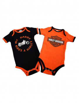 3-6 Months Baby Boys' Daddy Rides A Harley Creeper 2-Pack (3/6M) 1153042
