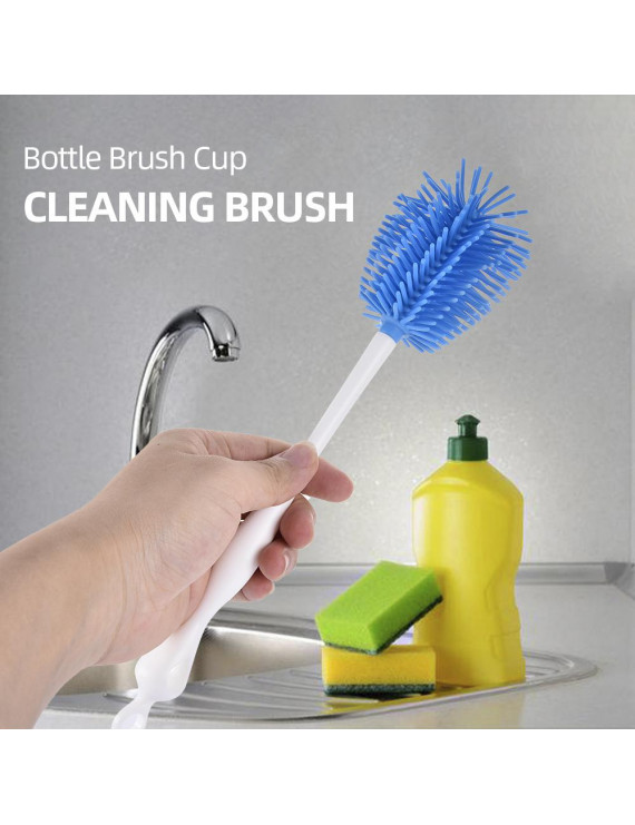 Bottle Brush Cup Brush Bottle Cleaner Dispensing Brush Cup Cleaning Brush for Glass Cups