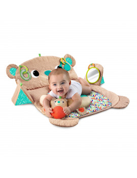 Bright Starts Tummy Time Prop & Play Activity Mat - Teddy Bear