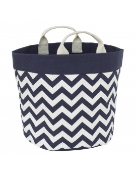 Little Love by NoJo Chevron Storage Tote Navy and White