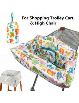 Baby Kids Child Shopping Trolley Cart Cover Seat Pad and High Chair Cover Protector