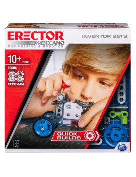 Erector by Meccano, Quick Builds, S.T.E.A.M. Building Kit with Real Tools, for Ages 8 and Up