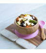Avanchy Bamboo Stay Put Suction Baby Bowl + Spoon Yellow