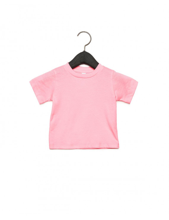 The Bella + Canvas Infant Jersey Short Sleeve T-Shirt - PINK - 12-18MOS