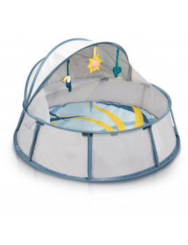 Babymoov Babyni - Pop-Up 3-in-1 Playpen, Activity Gym and Napper for Infants and Toddlers with UV protection (tropical)