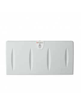 Foundations Classic Horizontal Baby Changing Station, Surface Mount, Gray
