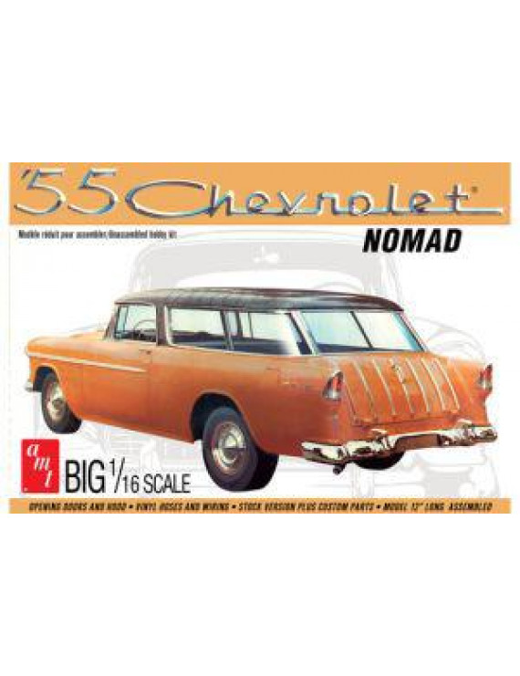 AMT 55 Chevrolet Nomad Big 1/16 Scale Plastic Model Kit