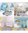 """36 Pieces Play Mat for baby with Fence,Including 16 Different Sea Animal Styles, Thick (0.56"""") Interlocking Foam Floor Tiles, Kids Room Decor Large Mat F-435"""