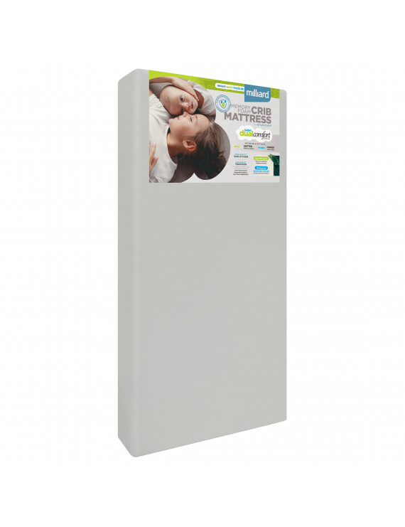 Milliard Deluxe 5.5 Inch Memory Foam Crib and Toddler Mattress, Dual Sided MIL-BCM3