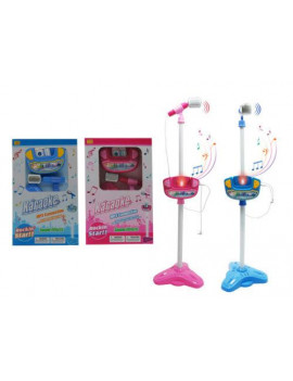 (2-3 business days delivery) Kids Karaoke Microphone Musical Toys Adjustable Stand Karaoke Machine Light MP3(COLOR MAY VARY)