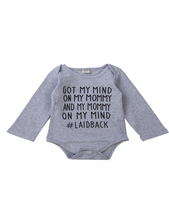 Newborn Kids Baby Boy Girl Long Sleeve Romper Bodysuit Outfits Cotton Clothes
