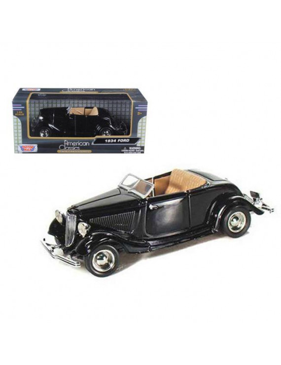 1934 Ford Coupe Convertible Black 1-24 Diecast Model Car