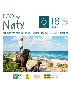 Eco by Naty Pull on Pants, Size 6, 18 Count