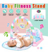 Pink Newborn Gym Baby Play Crawling Mat Lay & Play Kick & Play Piano 3 in 1 Fitness Music And Lights Fun Piano Toy Christmas Gift