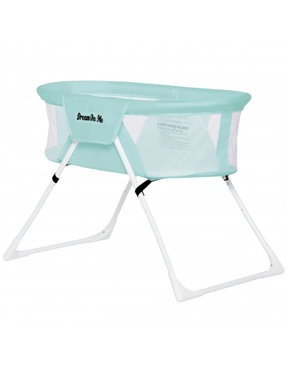 Dream On Me Mackenzie Portable Bassinet In Aqua